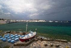 Mykonos overcast Royalty Free Stock Images