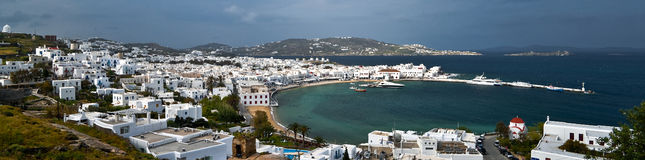 Mykonos panorama Stock Images