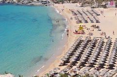 Mykonos Paradise Beach, Greece Stock Images