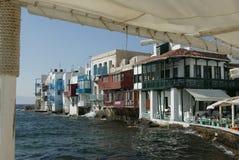 Mykonos pequeña Venecia Foto de archivo