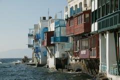 Mykonos pequeña Venecia Imagenes de archivo