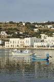 Mykonos Port Stock Photo