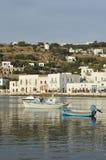 mykonos port zdjęcie stock