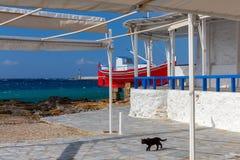Mykonos Remblai de ville Photo libre de droits