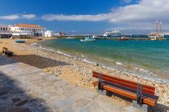 Mykonos Remblai de ville Photo stock