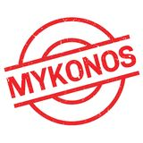 Mykonos rubber stamp Royalty Free Stock Photo