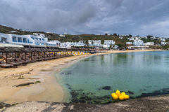 Mykonos sandy beach Stock Image