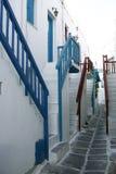 mykonos schody. zdjęcie stock