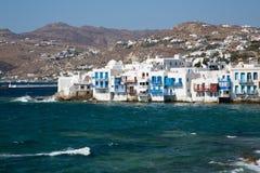 Mykonos Sea View Stock Photo