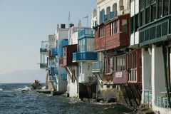 Mykonos Small Venice. The area of small venice at the island of mykonos, greece Stock Images