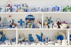 Mykonos souvenirs Stock Photos
