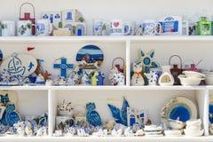 Mykonos souvenirs Stock Photos