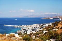 Mykonos-Stadt, Griechenland stockbild