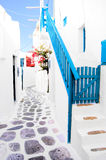 Mykonos street Stock Photo
