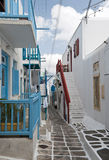 Mykonos street Royalty Free Stock Photography
