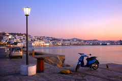 Mykonos at Sunset Royalty Free Stock Photo