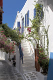 Mykonos Town Back Street Royalty Free Stock Image