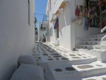 Mykonos Town. Beautifull white streets of Mykonos Stock Image
