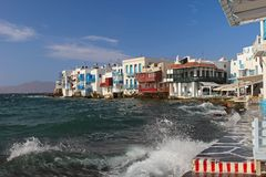 Mykonos town, Greece Royalty Free Stock Images
