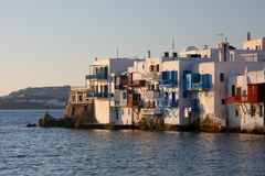 Mykonos Town at Late Afternoon Royalty Free Stock Images