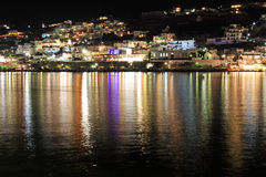 Mykonos Town At Night Royalty Free Stock Photo