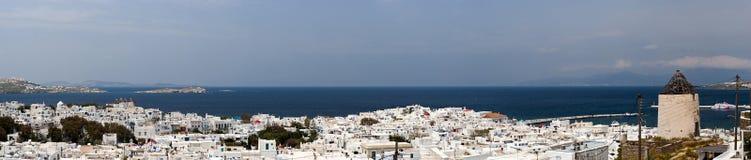 Mykonos town panorama Royalty Free Stock Image