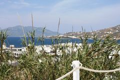 Mykonos view Stock Images