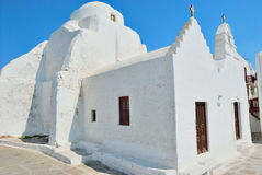 Mykonos white church Royalty Free Stock Photo