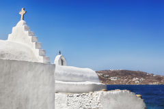 Mykonos Whitewashed Church Royalty Free Stock Photos