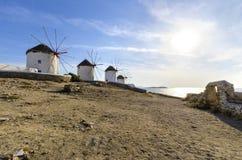 Mykonos wiatraczki, Chora, Grecja Fotografia Royalty Free