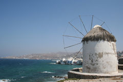 Mykonos Windmill Stock Image