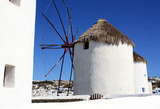 Mykonos Windmill stock images