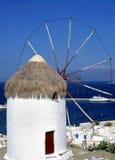Mykonos windmill. Windmill on the greek island of Mykonos royalty free stock photography