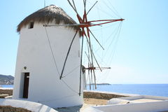 Mykonos windmill. The windmills are the quintessential features of Mykonos' landscape. There are plenty of them that have become a part and parcel of Mykonos Stock Images