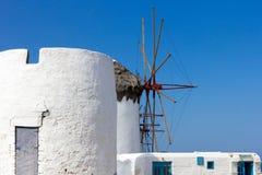 Mykonos windmill Stock Photos