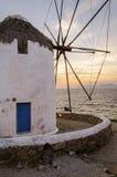 Mykonos windmill, Chora, Greece Royalty Free Stock Image