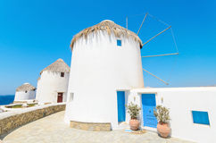 Mykonos windmill, Greek islands. Royalty Free Stock Photos
