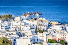 Mykonos, windmill in Greek Islands, Greece Royalty Free Stock Photo