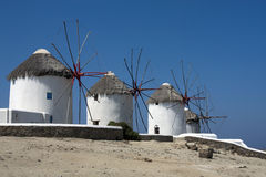 Mykonos windmills Stock Image