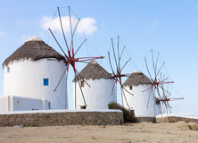 Mykonos windmills Royalty Free Stock Images