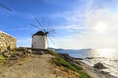 Mykonos windmills, Chora, Greece Stock Image