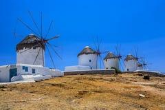 Mykonos Windmills Royalty Free Stock Photos
