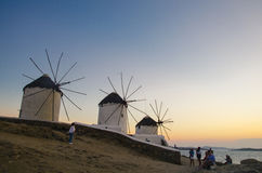 Mykonos windmills Royalty Free Stock Image