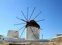 Mykonos Windmills Royalty Free Stock Photo