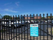 Mylan facility in Morgantown WV. MORGANTOWN, WEST VIRGINIA, USA - AUGUST 30: Exterior of Mylan drug manufacturing plant on August 30, 2016 in Morgantown, WV royalty free stock photo
