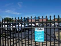 Mylan设施在摩根敦WV 免版税库存照片
