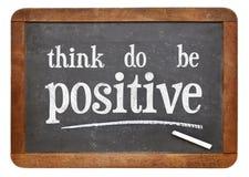 Myśleć, być pozytywnym motywacyjnym pojęciem Fotografia Royalty Free