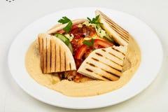 Mylla med shawarma royaltyfria foton
