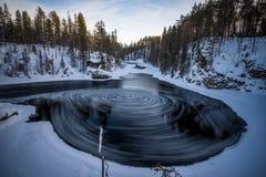 Myllykoski w Oulanka parku narodowym obraz royalty free