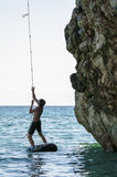 Mylopotamos beach, Pelio, Greece. Fun at Mylopotamos beach, Pelio, Greece Stock Photography
